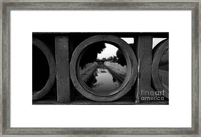 Framed Print featuring the photograph View From The Bridge by Nina Prommer