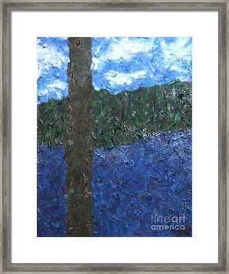 View From The Deck Of Cabin One Framed Print