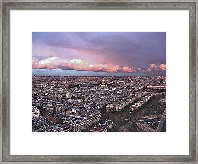 View From The Eiffel 2 Framed Print by David Ritsema