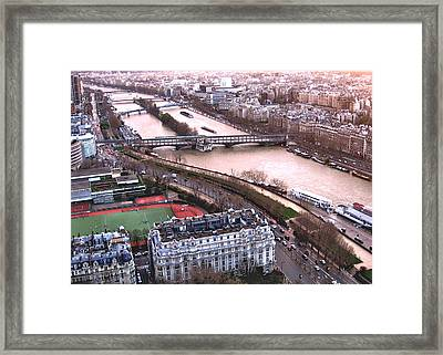 View From The Eiffel Framed Print by David Ritsema