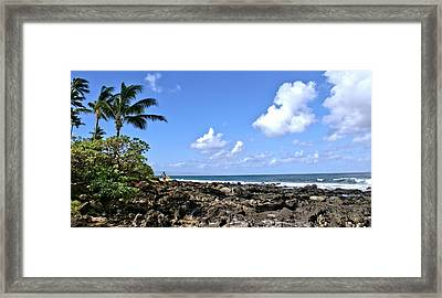 Framed Print featuring the photograph View From The Gazebo On Maui by Rob Green