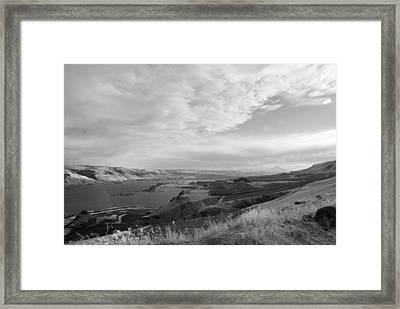 Framed Print featuring the photograph View From The Hill Columbia River by Kathleen Grace