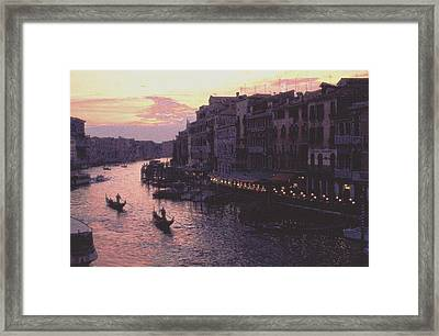 View From The Rialto Venice Framed Print