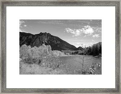 Framed Print featuring the photograph View From The River by Kathleen Grace