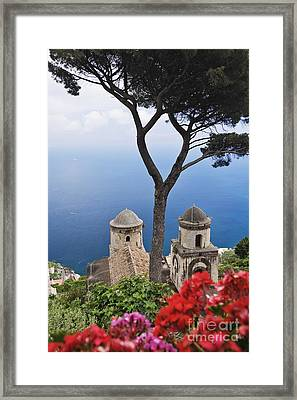 View From Villa Rufolo Gardens Framed Print by Jeremy Woodhouse