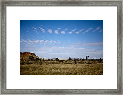 Framed Print featuring the photograph View Into Distance by Carole Hinding