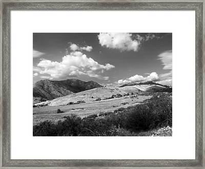 Framed Print featuring the photograph View Into The Mountains by Kathleen Grace