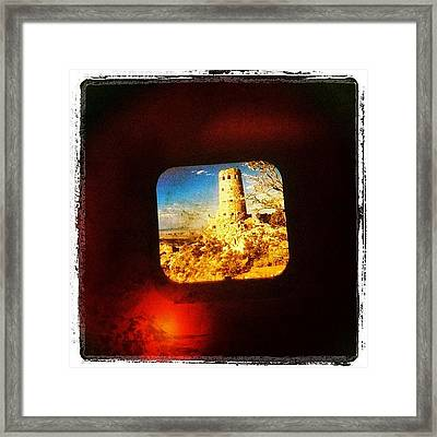 View-master Grand Canyon Watchtower Framed Print
