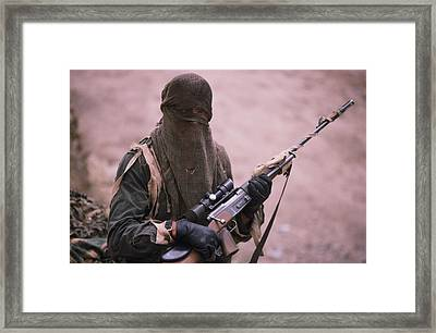 View Of A French Soldier, Part Framed Print by Steve Raymer