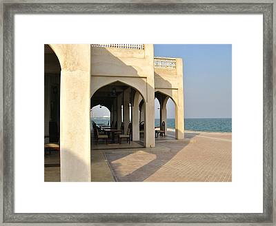 View Of Al Bandar At Doha Corniche Framed Print by David Ritsema