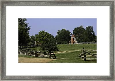 View Of Appomattox Courthouse 1 Framed Print by Teresa Mucha