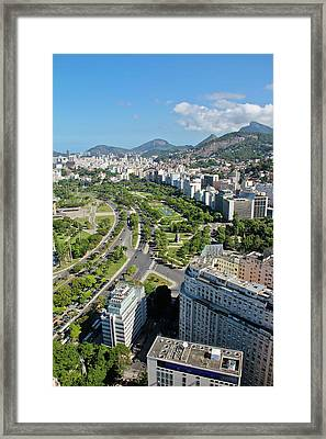 View Of Aterro Do Flamengo Framed Print by Ruy Barbosa Pinto