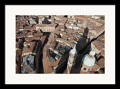 Torre Degli Asinelli Framed Prints