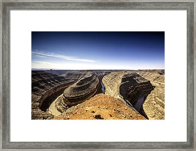 View Of Canyon And Winding River Framed Print