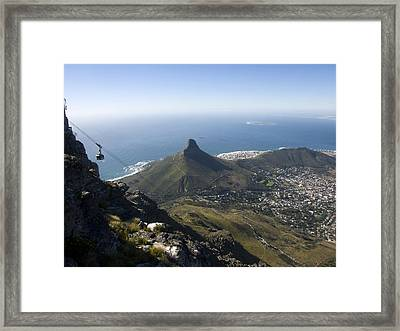 View Of Cape Town From Table Mountain Framed Print by Stacy Gold