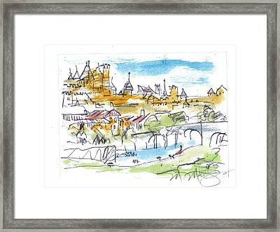 View Of Carcassone France Framed Print