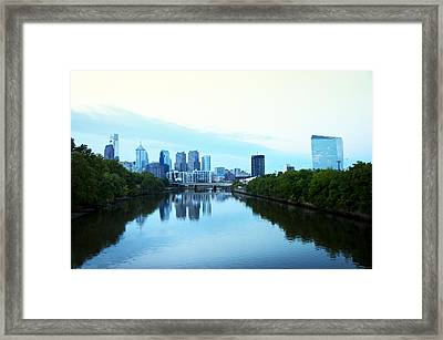 View Of Center City Philadelphia From The Schuylkill River Framed Print by Bill Cannon