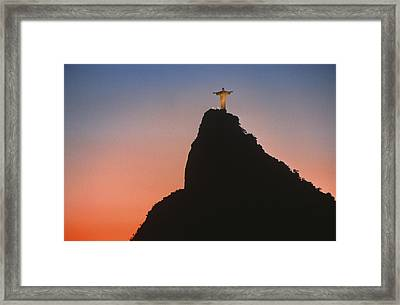 View Of Christ The Redeemer  Framed Print by Anonymous