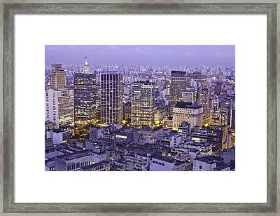 View Of City Framed Print