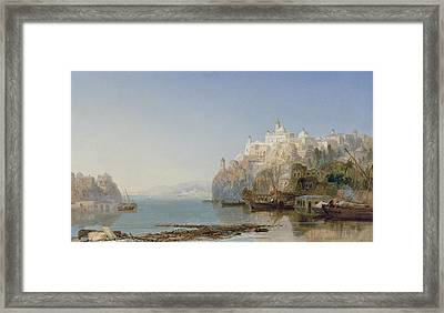 View Of Constantinople On The Bosphorus Framed Print by James Webb
