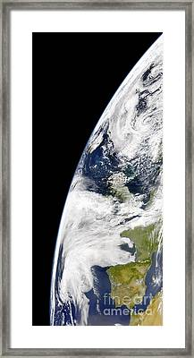 View Of Earth From Space Showing Framed Print by Stocktrek Images
