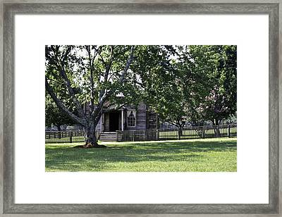 View Of Jones Law Offices Appomattox Virginia Framed Print by Teresa Mucha