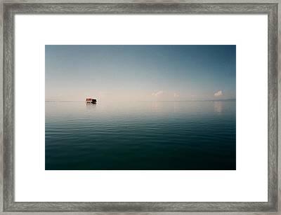 View Of Lake Qinghai Framed Print