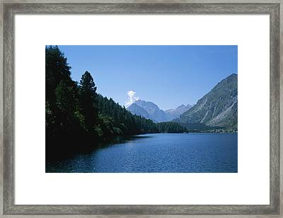 View Of Lake Segl Framed Print by Taylor S. Kennedy