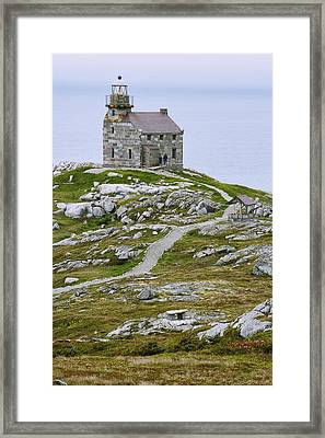 View Of Lighthouse, Rose Blanche Framed Print by Yves Marcoux
