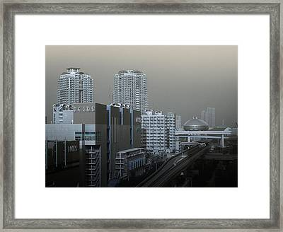 View Of Modern Tokyo Framed Print by Naxart Studio