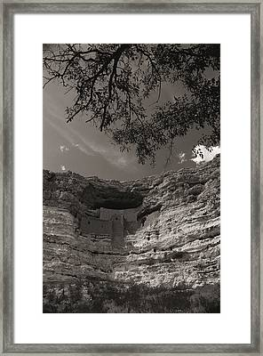 View Of Montezuma Castle Framed Print by Todd Gipstein