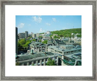 View Of Montreal  From Royal Victoria College Framed Print by Reb Frost