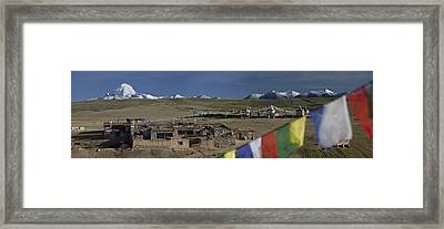 View Of Mount Kailash From Chiu Framed Print by Phil Borges