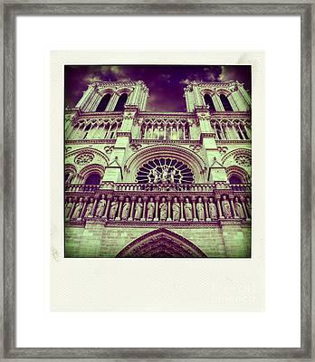 View Of Nd De Paris On River Seine. Paris Framed Print
