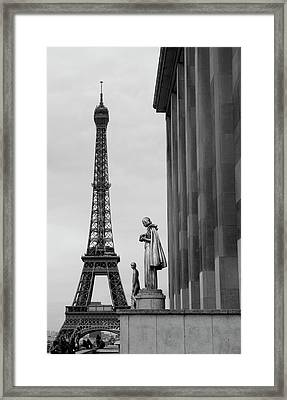 View Of Paris France With Eiffel Tower Framed Print by Win Initiative