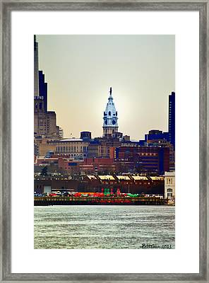 View Of Philadelphia City Hall From Camden Framed Print