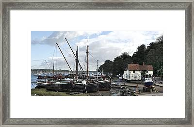 View Of Pin Mill From King's Yard Framed Print by Gary Eason
