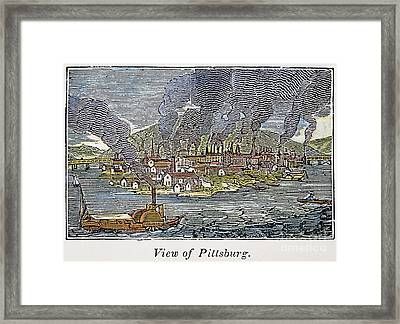 View Of Pittsburgh, 1836 Framed Print by Granger