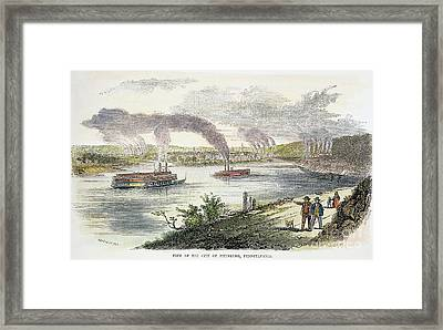 View Of Pittsburgh, 1853 Framed Print by Granger