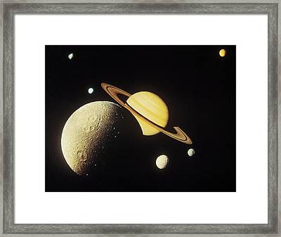 View Of Planets In The Solar System Framed Print by Stockbyte