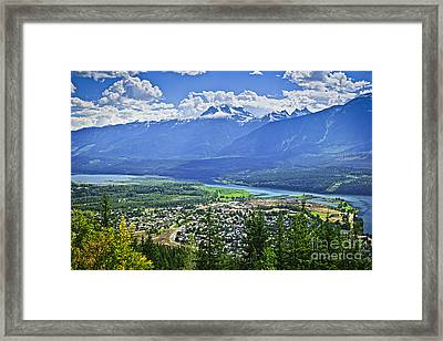 View Of Revelstoke In British Columbia Framed Print by Elena Elisseeva