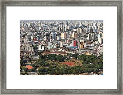 View Of Sao Paulo Skyline Framed Print by Jacobo Zanella