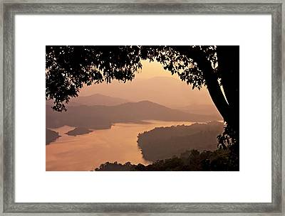 View Of Sharavathi River Framed Print by Amit R
