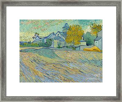 View Of The Asylum And Chapel At Saint Remy Framed Print by Vincent Van Gogh