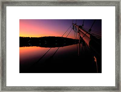 View Of The Bow Of The Charles W Framed Print by Joel Sartore