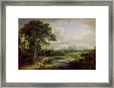 View Of The City Of Edinburgh Framed Print by Alexander Nasmyth