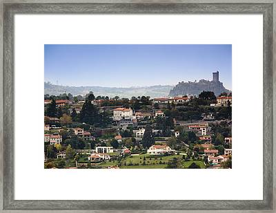 View Of The Fortress Of Polignac Framed Print by Walter Bibikow