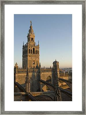 View Of The Giralda Tower Framed Print by Krista Rossow