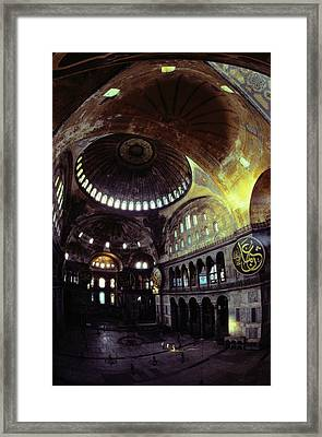 View Of The Interior Of Hagia Sophia Framed Print by James L. Stanfield