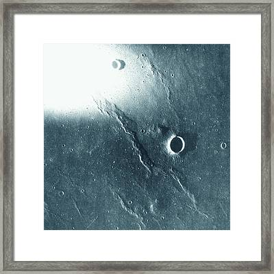 View Of The Landscape Of The Moon Framed Print by Stockbyte